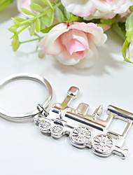 Personalized Locomotive Shaped Keyring Favor (Set of 4 Pieces)
