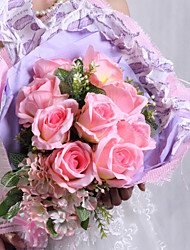 Bouquets ( Rose , Cuir faux / Polyester ) Roses
