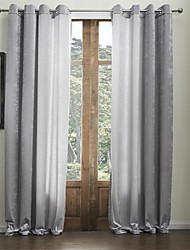 Two Panels  Chenille Solid Classic Rayon Eco-friendly Curtain