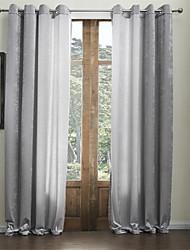 dois painéis de chenille cortina de eco-friendly rayon clássico sólida