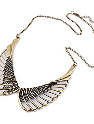 Hollow Out Angel Wings Pattern Sweater Alloy Necklace