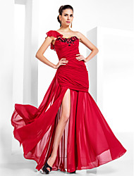Formal Evening / Military Ball Dress - Plus Size / Petite Trumpet/Mermaid One Shoulder / Sweetheart Floor-length Chiffon