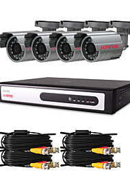 "CCTV DVR Kit with  4pcs 420TVL 1/4"" Sony CCD IR Cameras(4 Channel D1 Recording)"