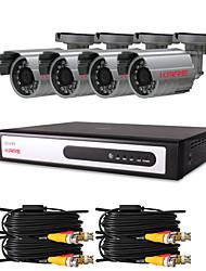 """CCTV DVR Kit 4 piezas con 420TVL 1/4 """"Sony CCD Cámaras infrarrojas (4 canales de grabación D1)"""