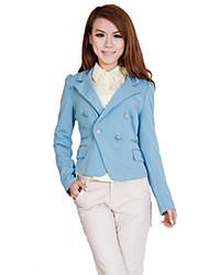 JDUO Double Breast Long Sleeve Suit Coat (Royal Blue)