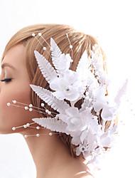 Schöne Silk Screen und Nachahmungen von Perlen Hochzeit / Braut Kopfschmuck Blume