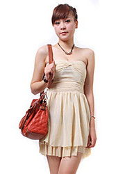 ZHI YUAN Strapless High Waist Princess Double Layer Dress (mehr Farben)