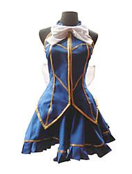 Inspiré par Fairy Tail Lucy Heartfilia Anime Costumes de cosplay Costumes Cosplay Mosaïque Bleu Top
