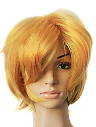 Capless Golden Synthetic Short Straight Party Wig
