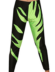 Black and Green Spandex Pants