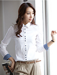 Office Lady Blanc Basic Shirt (blanc)