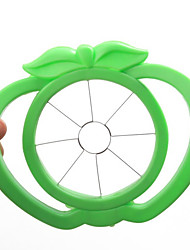 Apple Shaped Plastic Easy Fruit Slicer Cutter Tool (Random Colors)
