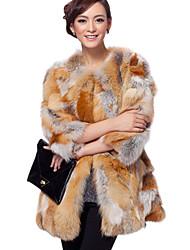 3/4 manica colletto pelliccia di volpe Casual / Partito Coat