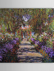 Famous Oil Painting A Pathway in Monet's Gardenat Giverny by Claude Monet