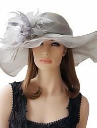 Belle lin avec des plumes spéciales Chapeaux de Cérémonie (plus de couleurs)