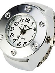 Bonito Ronda de aleación de anillo reloj