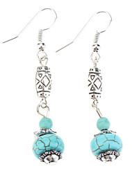 Drop Earrings Dangle Earrings Earrings Turquoise Bohemian Statement Jewelry Vintage Gem Turquoise Ball Blue Jewelry ForParty Birthday