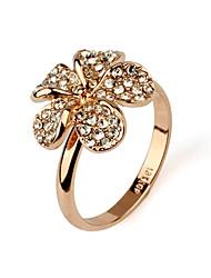 Wunderschöne CZ Zirkonia und 18K Gold überzogene Ringe (Surface Breite: 15 mm)