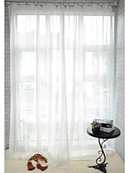 Two Panels Curtain Modern , Solid Dining Room Polyester Material Sheer Curtains Shades Home Decoration For Window
