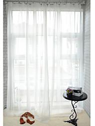 Dois Painéis Tratamento janela Moderno , Sólido Sala de Jantar Poliéster Material Sheer Curtains Shades Decoração para casa For Janela