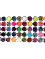 50 Colors Glitter Nail Art Decorations