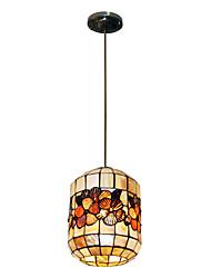 80W élégant Tiffany lumière pendante avec 2 lumières et coloré Matériel de Shell Shade intégré