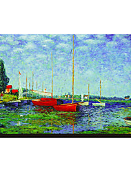 Argenteuil Circa 1872-5 by Claude Monet Famous Stretched Canvas Print