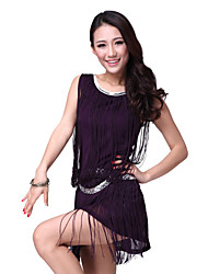 Dancewear Chiffon with Tassels Latin Dance Dress For Ladies More Colors