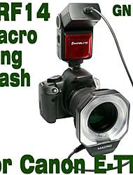 Emoblitz DRF14C Autofocus TTL Digital Macro Ring flash para Canon E-TTL II 600D 60D