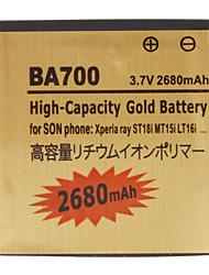 Batteria del telefono cellulare per Sony Ericsson BA700 (3,7 V, 2680 mAh)