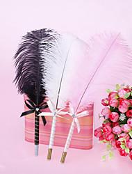 Elegent Ostrich Feather Wedding Pen (More Colors)