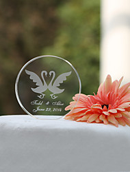 Cake Topper Personalized Classic Couple / Hearts Crystal Wedding / Bridal Shower Garden Theme / Classic Theme Gift Box