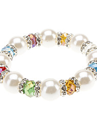 Diamond Pearl Crystal Bracelet