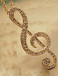 Women's Elegant Long Full Zircon Sharp Staradivarius Necklace