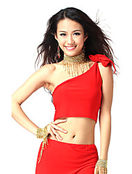 Dancewear Crystal Cotton Belly Dance Tops For Ladies More Colors