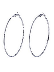 6.5Cm Exquisite Large Ring Iron Earrings(Assorted Colors)