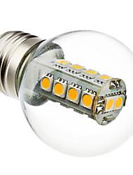 3W E26/E27 Круглые LED лампы G45 18 SMD 5050 230 lm Тёплый белый AC 220-240 V