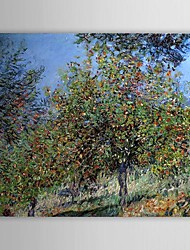 Famous Oil Painting Apple Trees on the Chantemesle Hill by Claude Monet