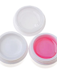 3PCS Multi-function UV Gel (14ml,1 White Gel+1 Pink Gel+1 Transparent Gel)