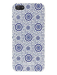 For iPhone X iPhone 8 iPhone 8 Plus iPhone 5 Case Case Cover Pattern Back Cover Case Flower Hard PC for iPhone X iPhone 8 Plus iPhone 8