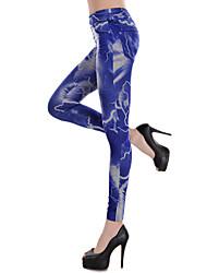 relâmpagos leggings azuis