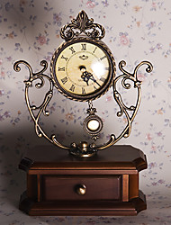 Antique Jewel Case Talble Clock