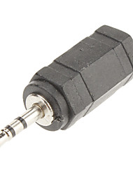 2.5mm bis 3.5mm Audio m / f Adapter