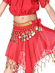 Dancewear Chiffon with Coins Belly Dance Belt For Children More Colors