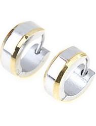 Titanium Steel or Edges Silver Earring pour hommes