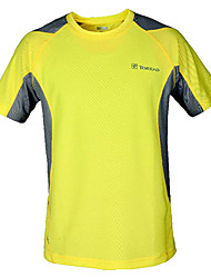 Running T-shirt / Tops Men's Short Sleeve Breathable / Quick Dry 100% Polyester Leisure Sports Sports WearOutdoor clothing / Practise /