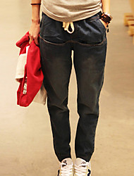 One-xuan Women's Casual Solid Color Jeans