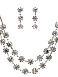 Fantastic liga e strass Set jóias, incluindo colar e brincos