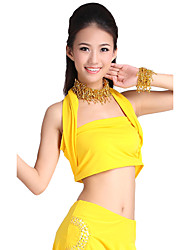 Dancewear Crystal Cotton Belly Dance Top For Ladies More Colors