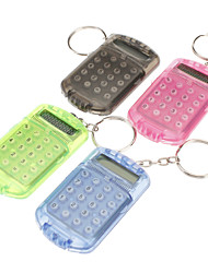 Solar Power Mini Calculator with Keychain (Random Color)